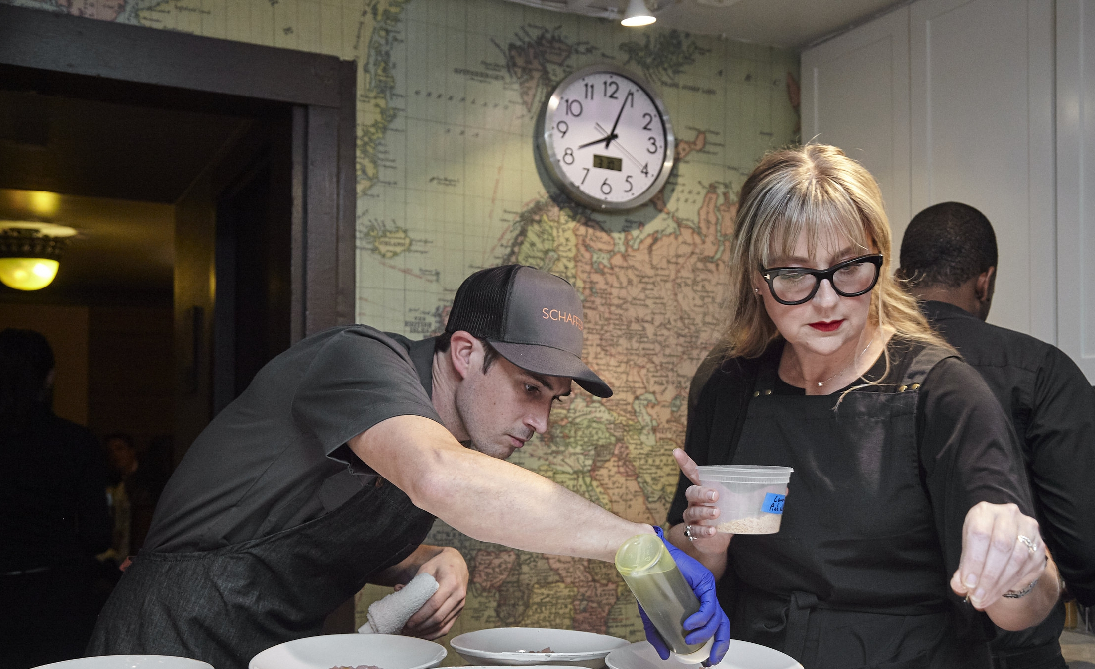Kathleen Schaffer and her crew plating up some Cricket Hummus for a sold out dinner at  The James Beard House  in NYC March 2018.