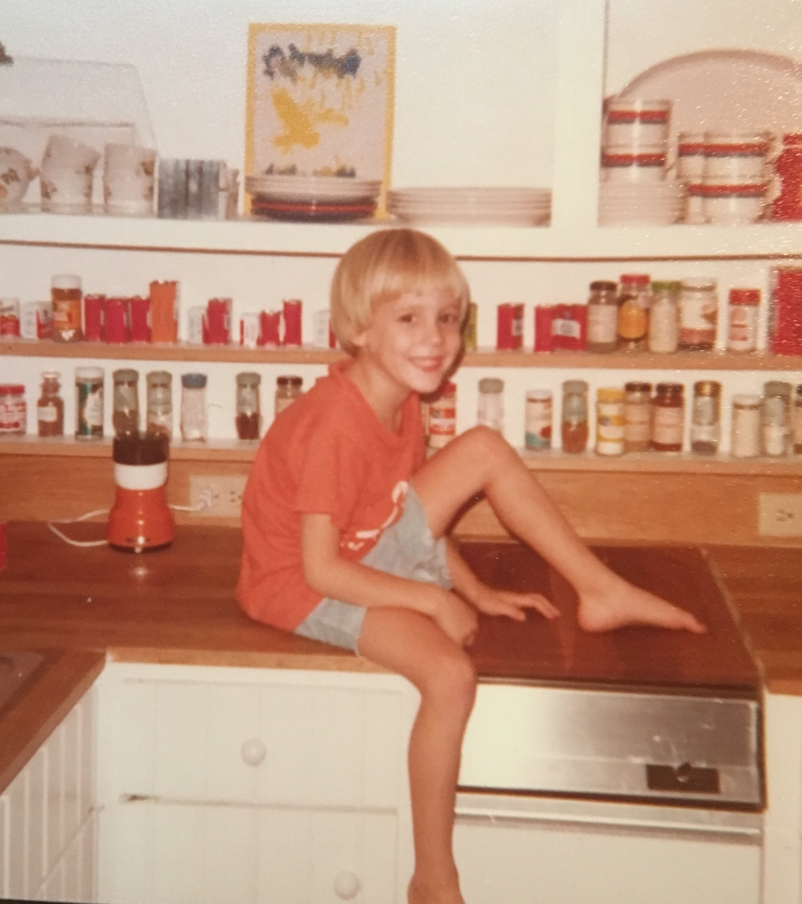 Charlie Schaffer beginning his career in his kitchen 1977.