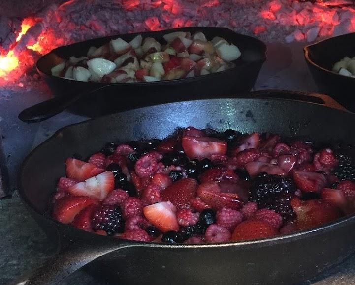 Berry Crisp on the Fire