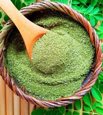 Dried and ground Moringa leaves create this nutrient dense powder.