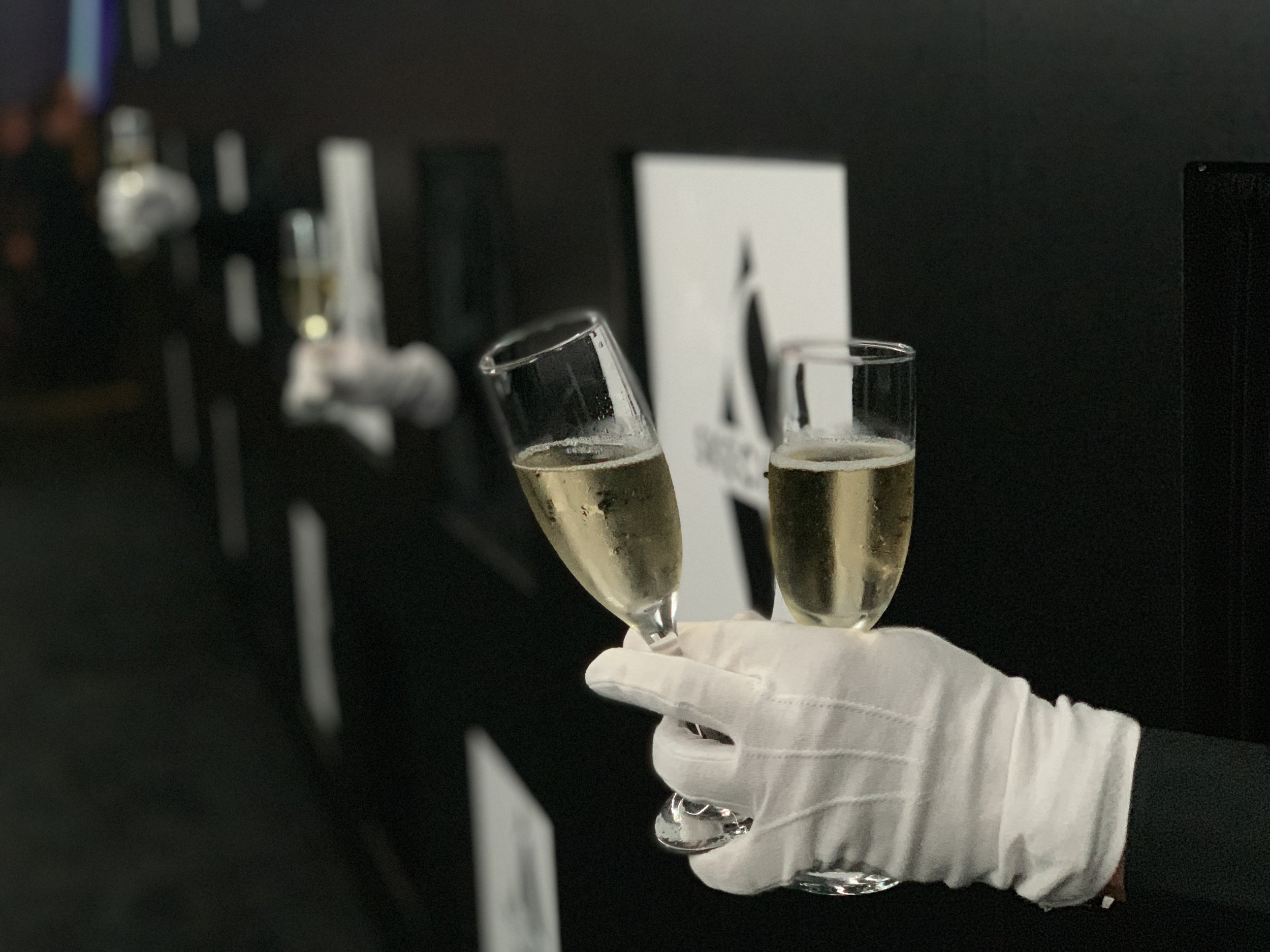 champagne wall Schaffer, the best event hospitality and Catering in Los Angeles.