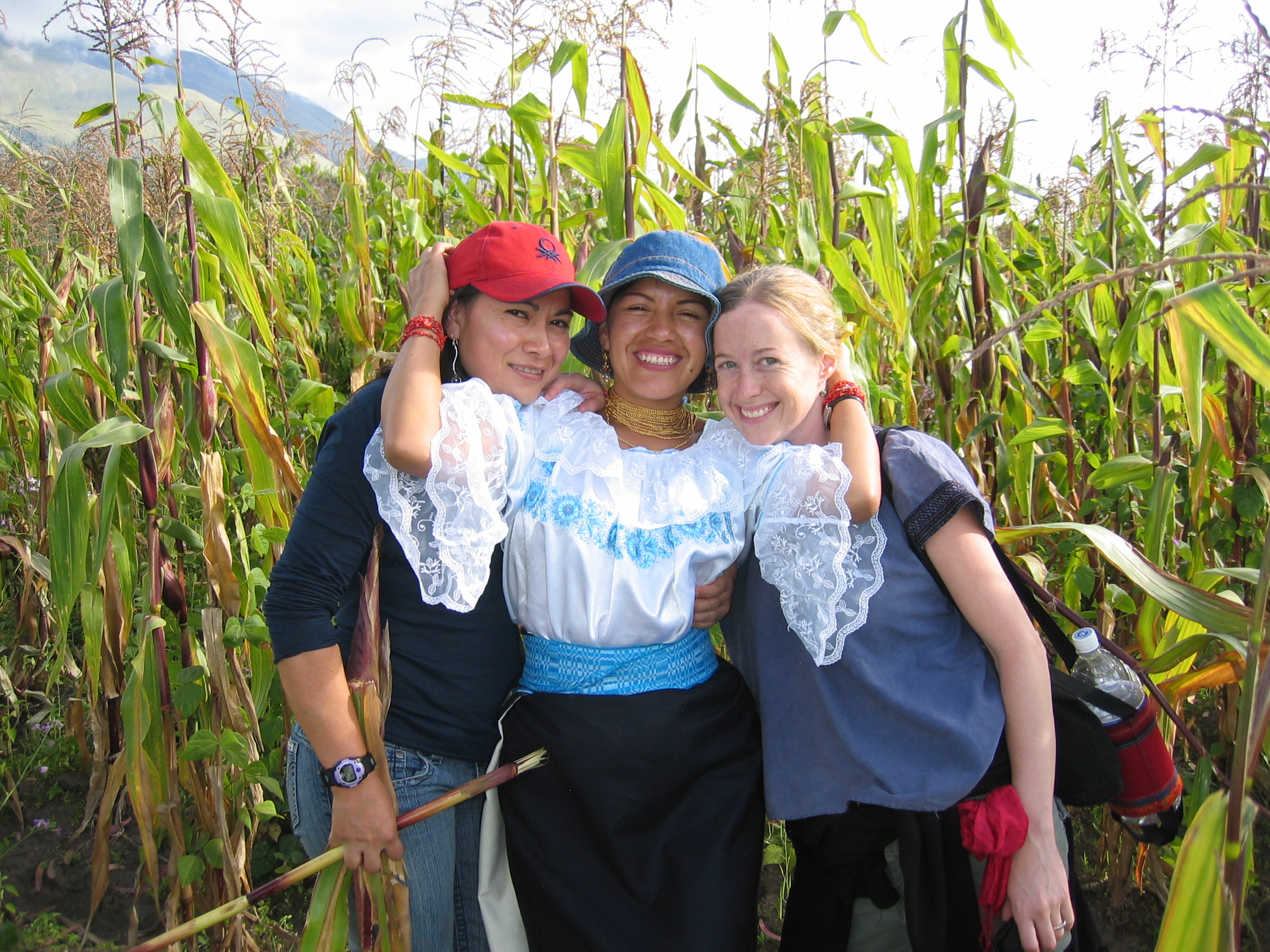 Alex, Maria Virginia, and Laura in the Ecuadorian Andes (near Otavalo)