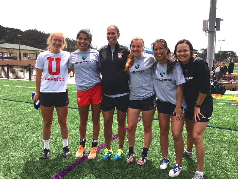 """""""As a player, instructing the younger girls on what to do and not do helps me in my own game because I am making mental notes to make sure that I am doing those things, too. Teaching them the skills helps me, too, because I relearn them better. As a person, it feels good to help people. It has definitely helped me with my leadership skills and has given me more confidence in groups."""" - – Allison Philips, 11th-Grade Student"""