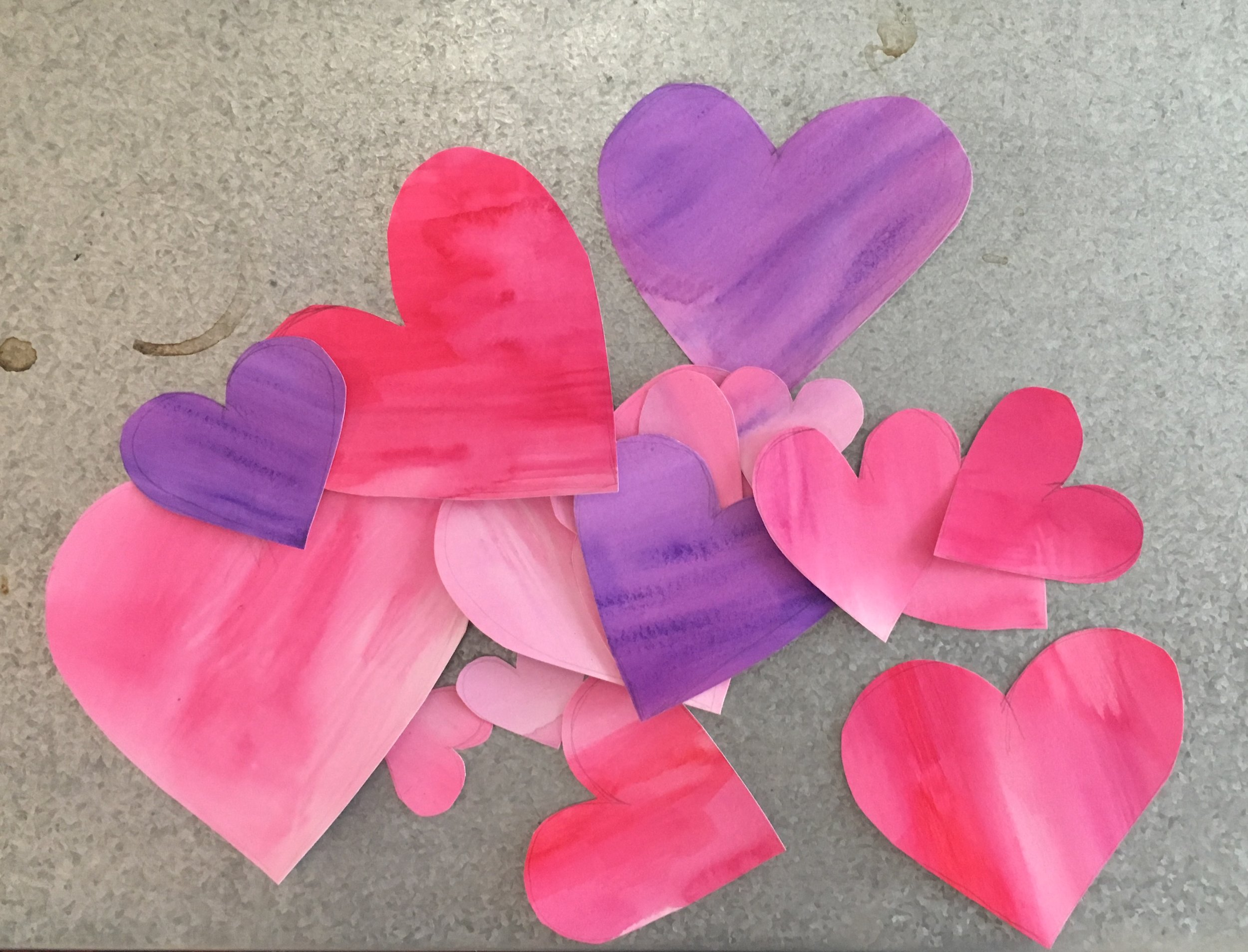 All the hearts cut out.