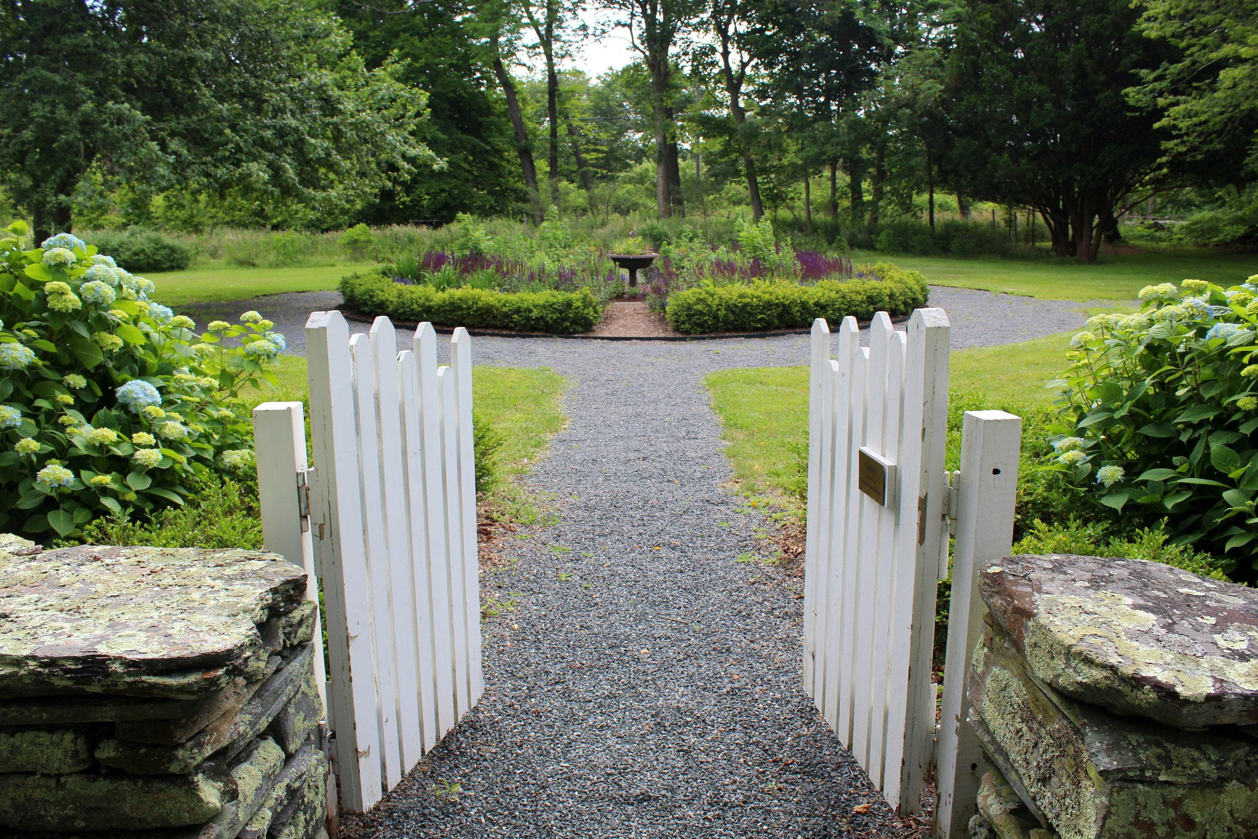 West entrance gate