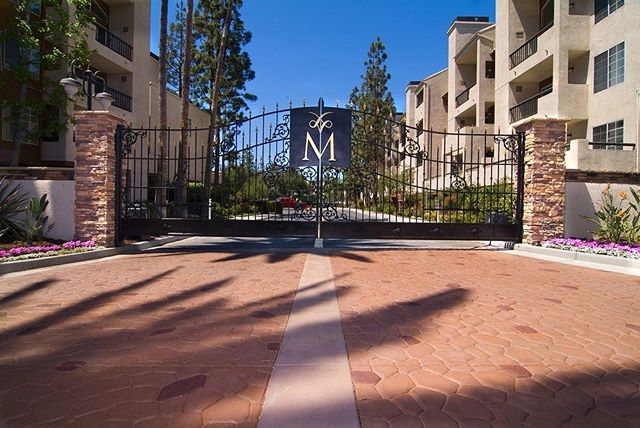 The Met Condominium entry gates Woodland Hills, CA