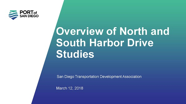 View the March Presentation by the Port of San Diego