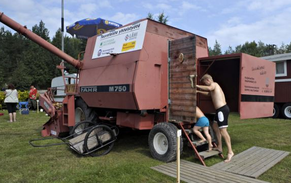 A converted crop harvester. Source: Daily Mail