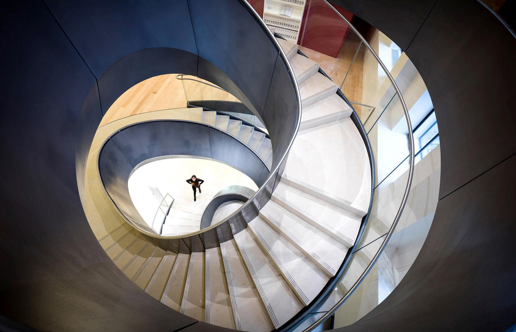 Dynamic staircase designed as a central part of the Wellcome Collection Development Project © Wilkinson Eyre