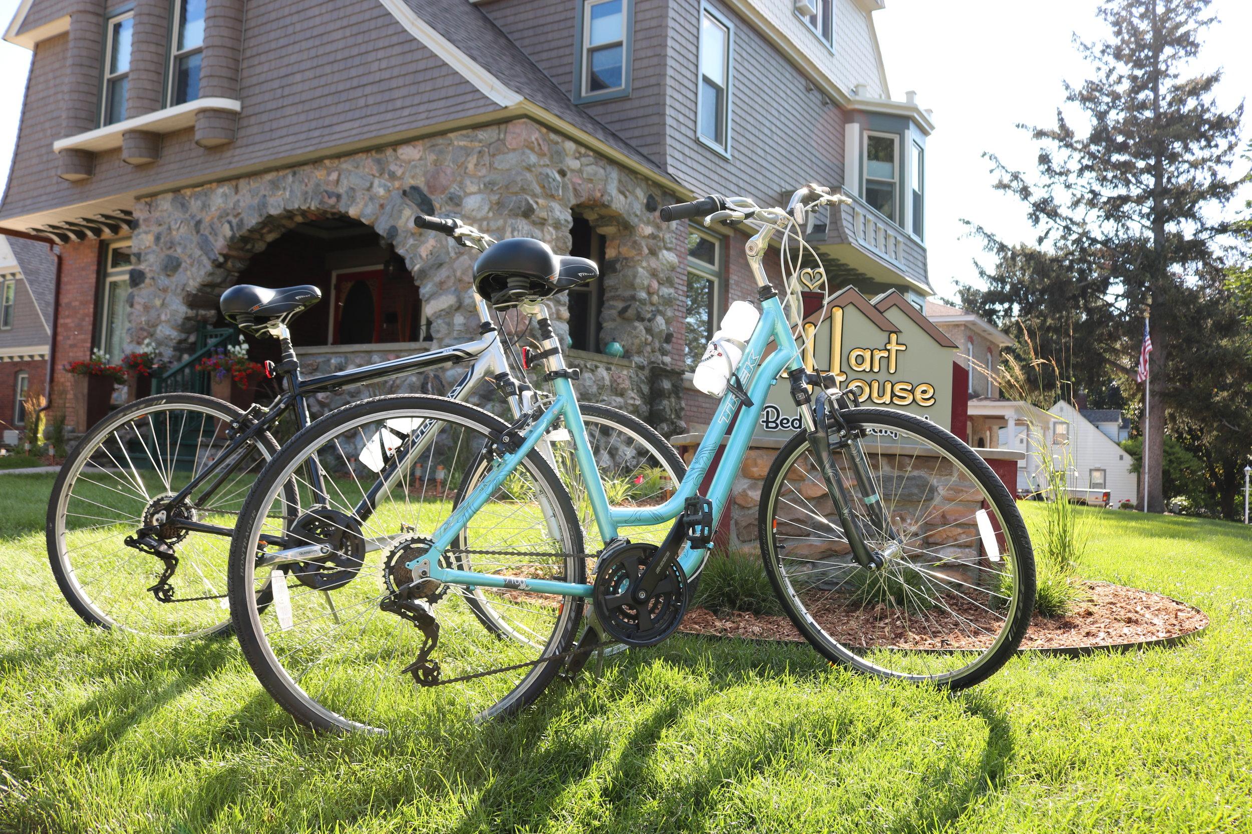 bikes in front of inn