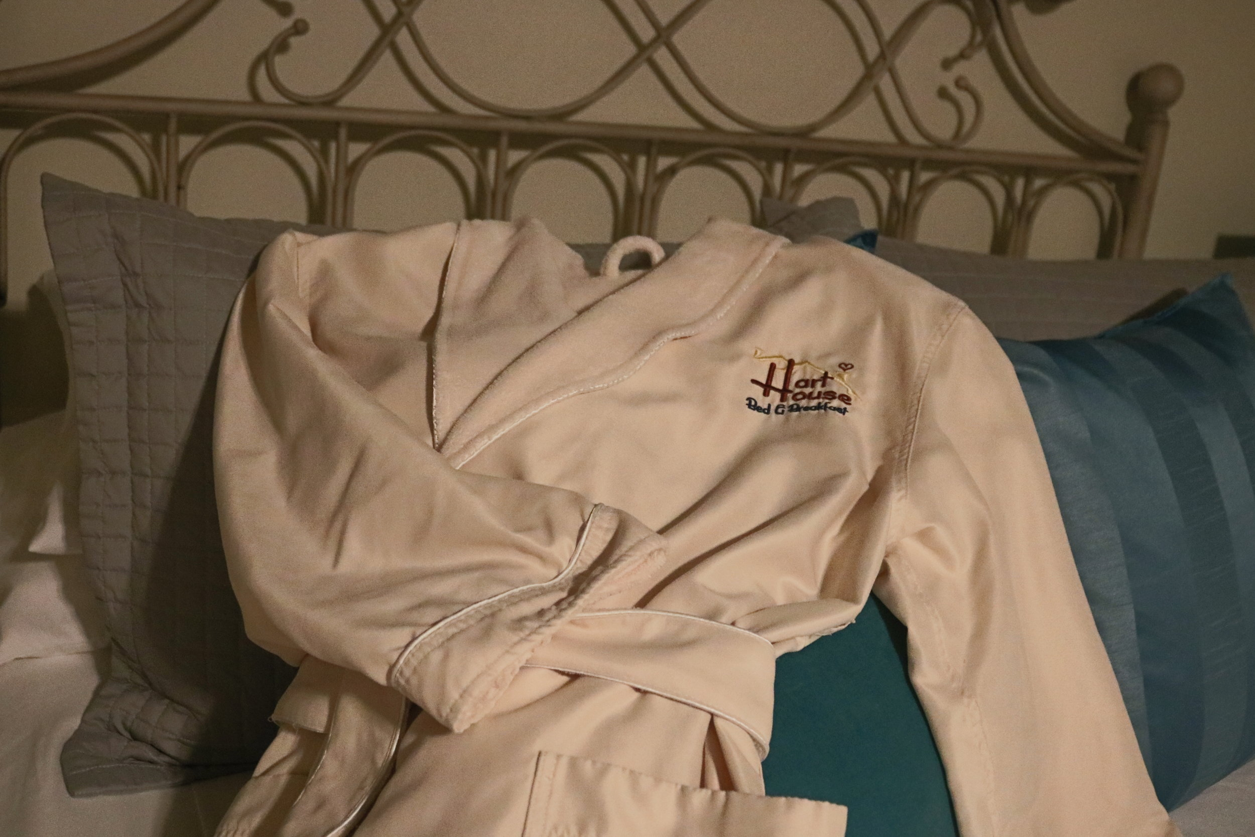 bathrobe provided