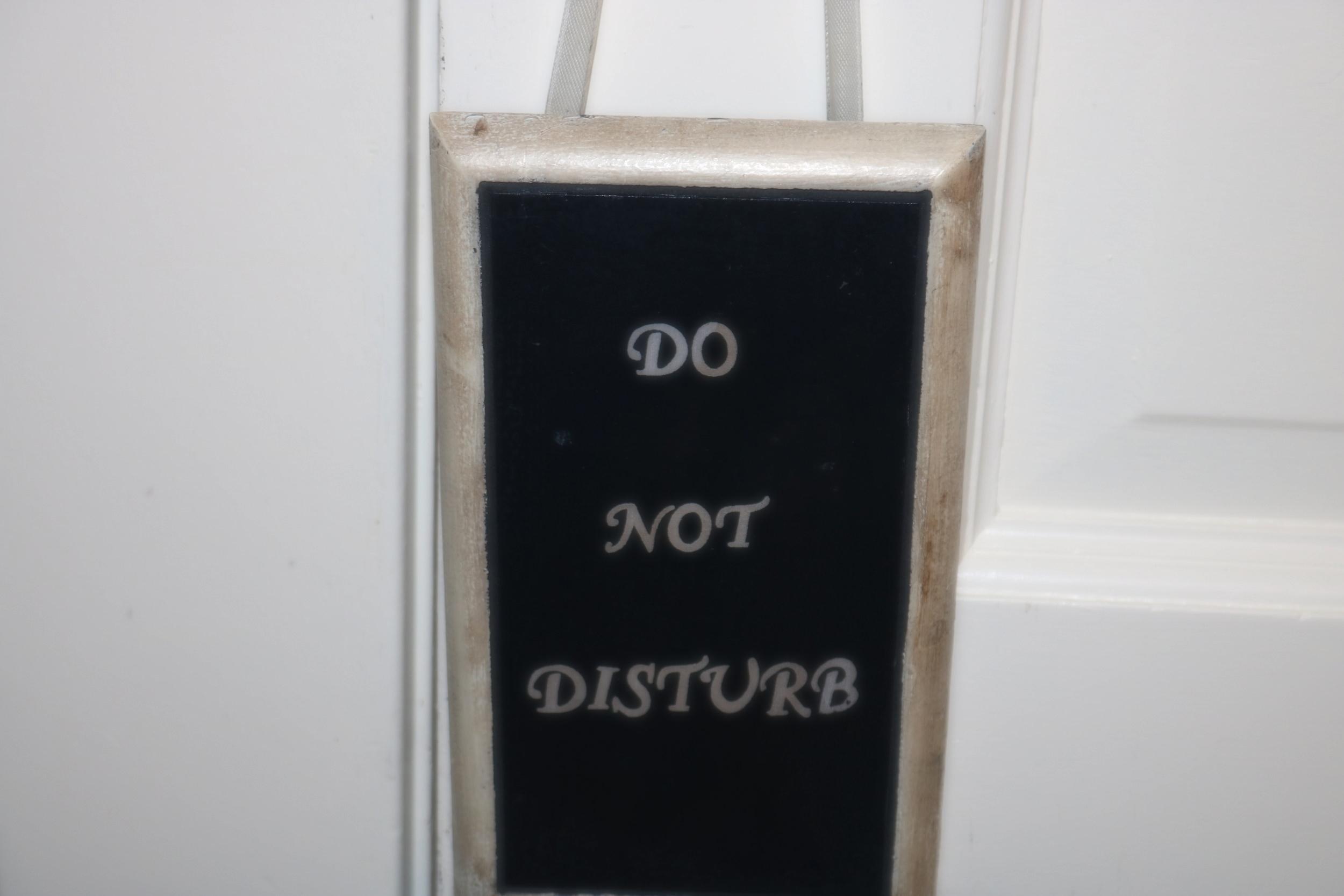 sign on door