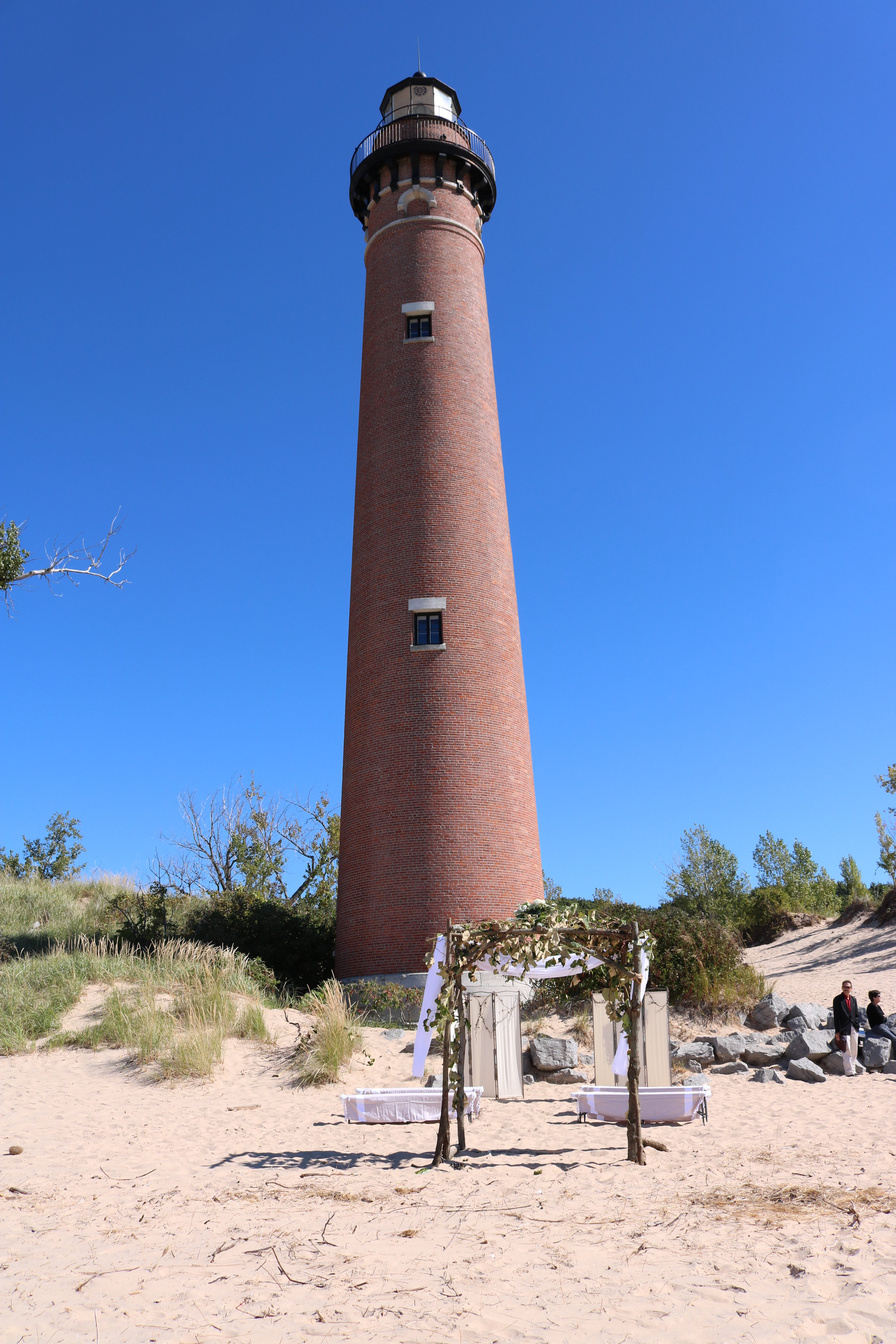 lighthouse with sand