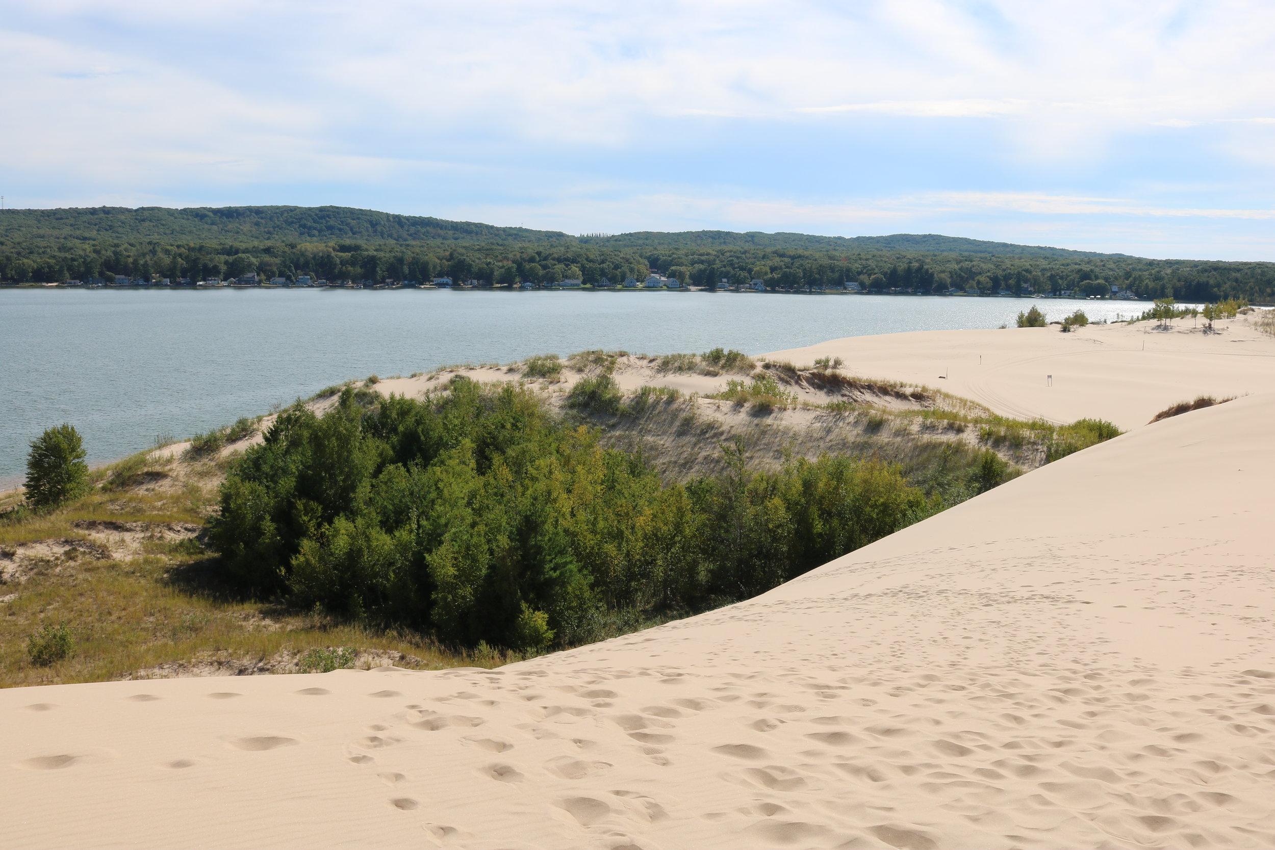 sand beach and lake
