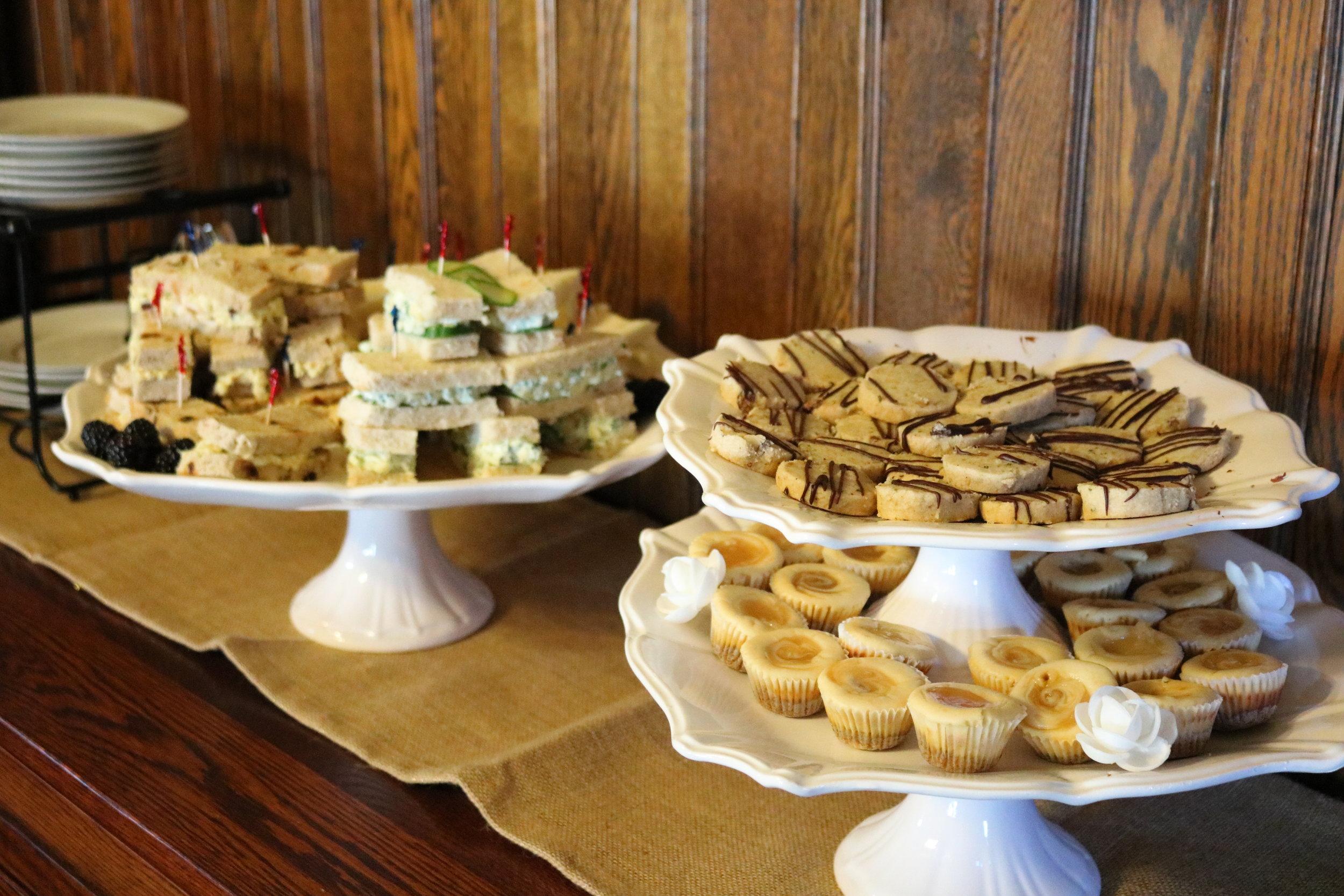 tasty looking treats on tray
