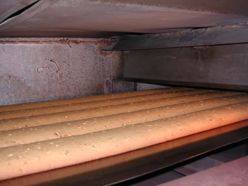 Biscotti being freshly baked