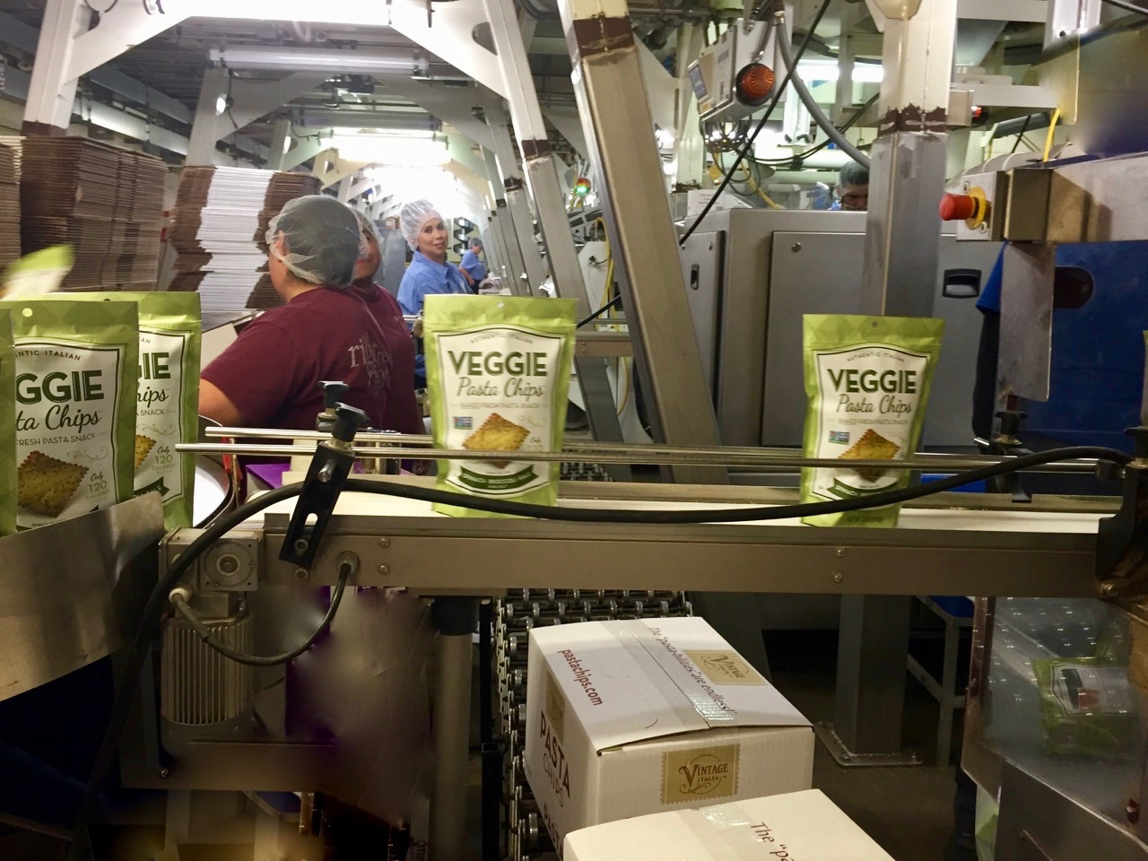Vintage Italia Veggie Pasta Chips about to be shipped to retailers