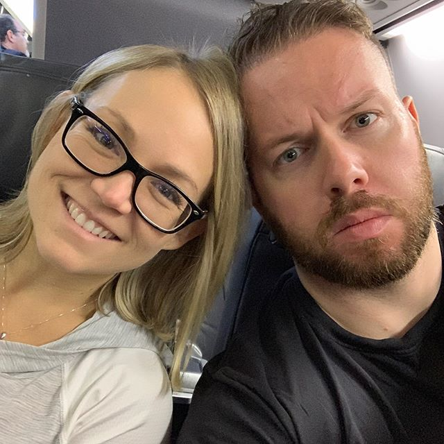 Wifey got in on the standard serious face plane selfie en route to DC today but didn't align to the brief. Happy Labor Day weekend. @cberka2