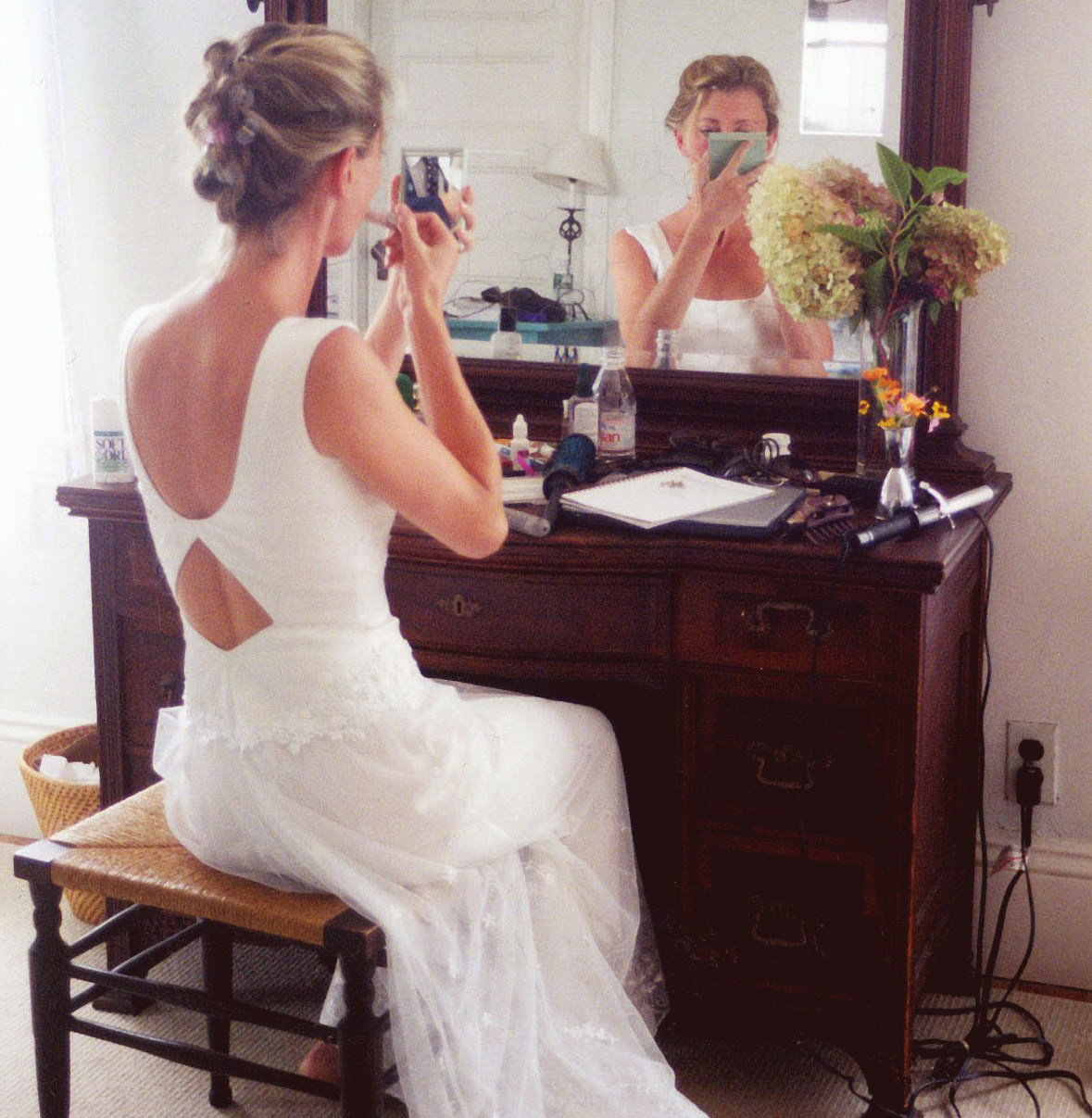 wedding gown with keyhole back