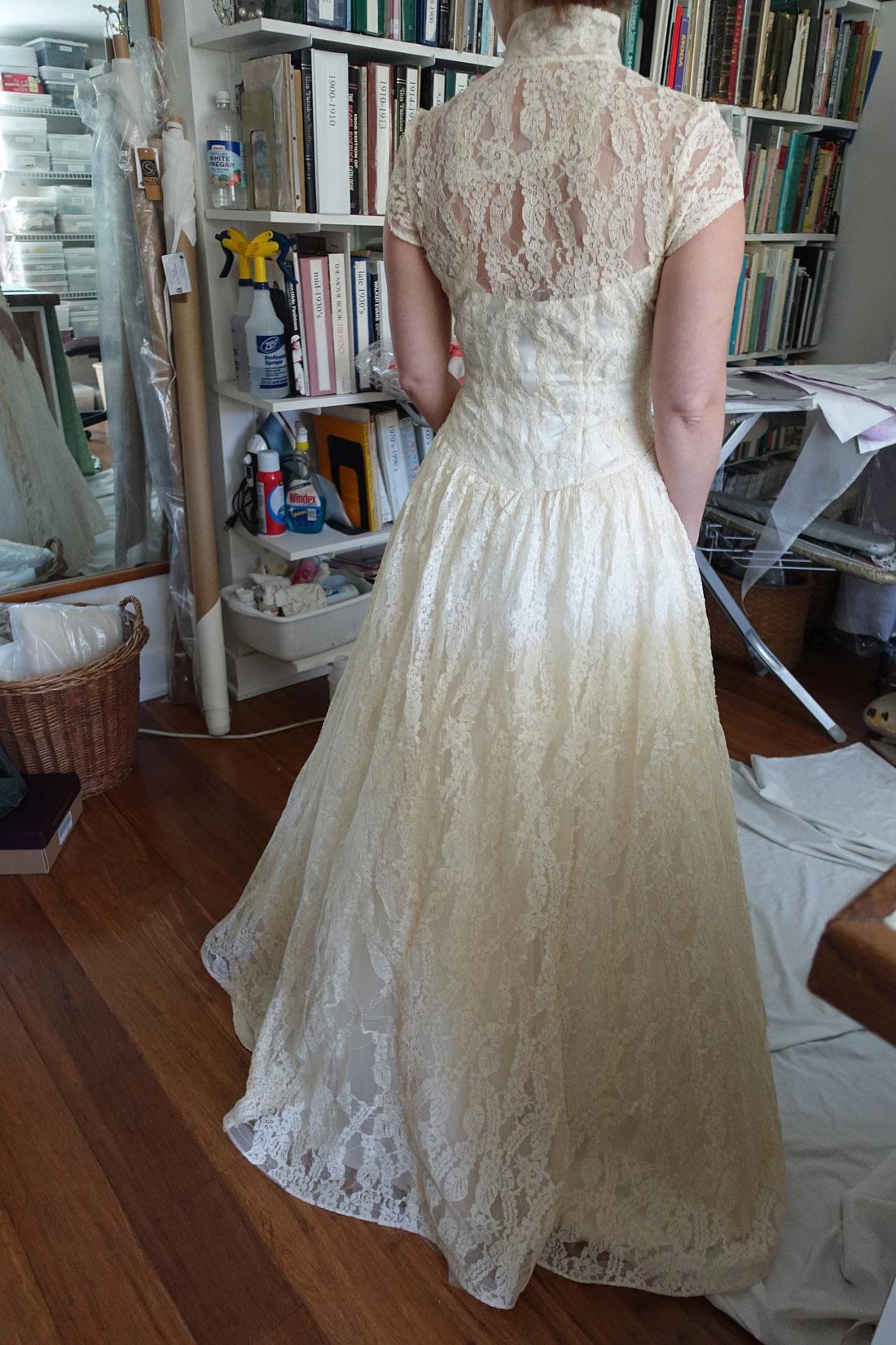 Antique Lace Gown Mid-Restoration