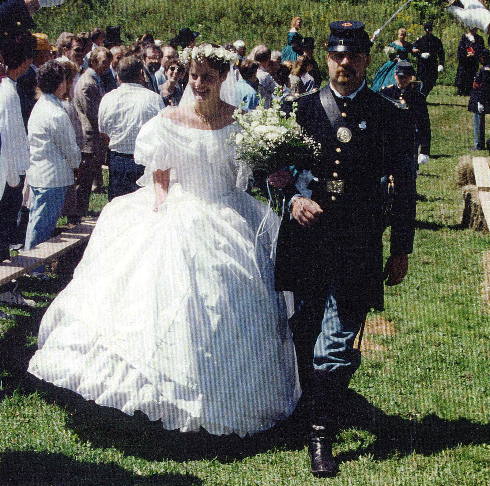Civil War Reproduction wedding gown