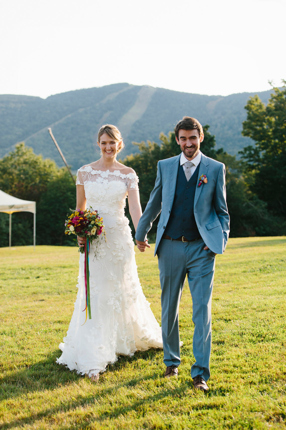 Wedding Gown and Jacket of Embroidered Netting