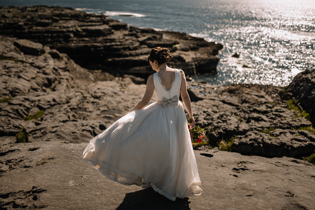Gown with Alencon Lace Bodice and Ribbon-Edged Chiffon Skirt