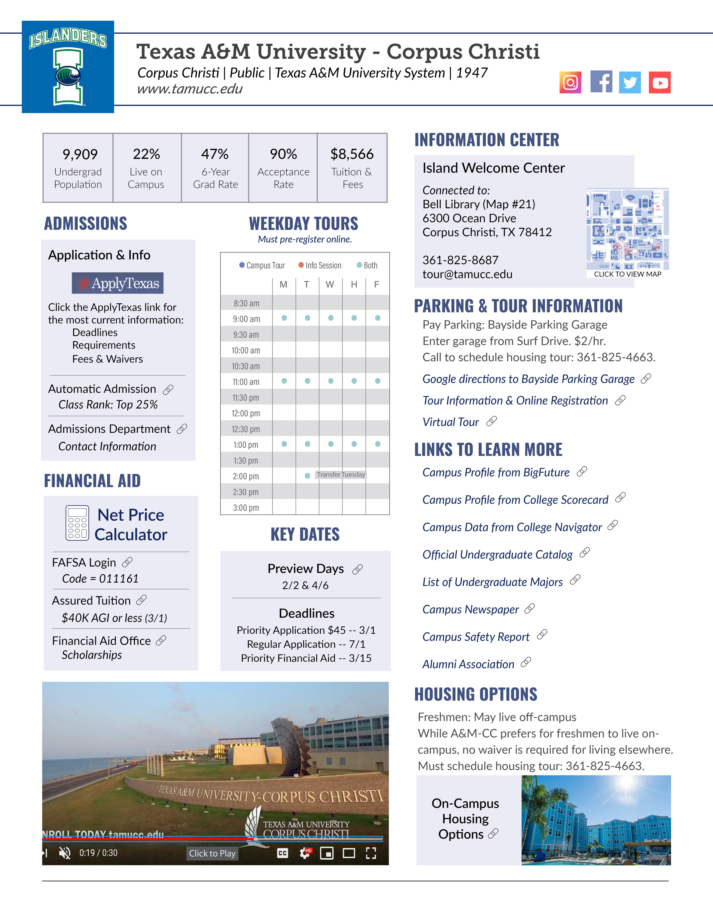 Example of Campus Guide: Texas A&M - Corpus Christi
