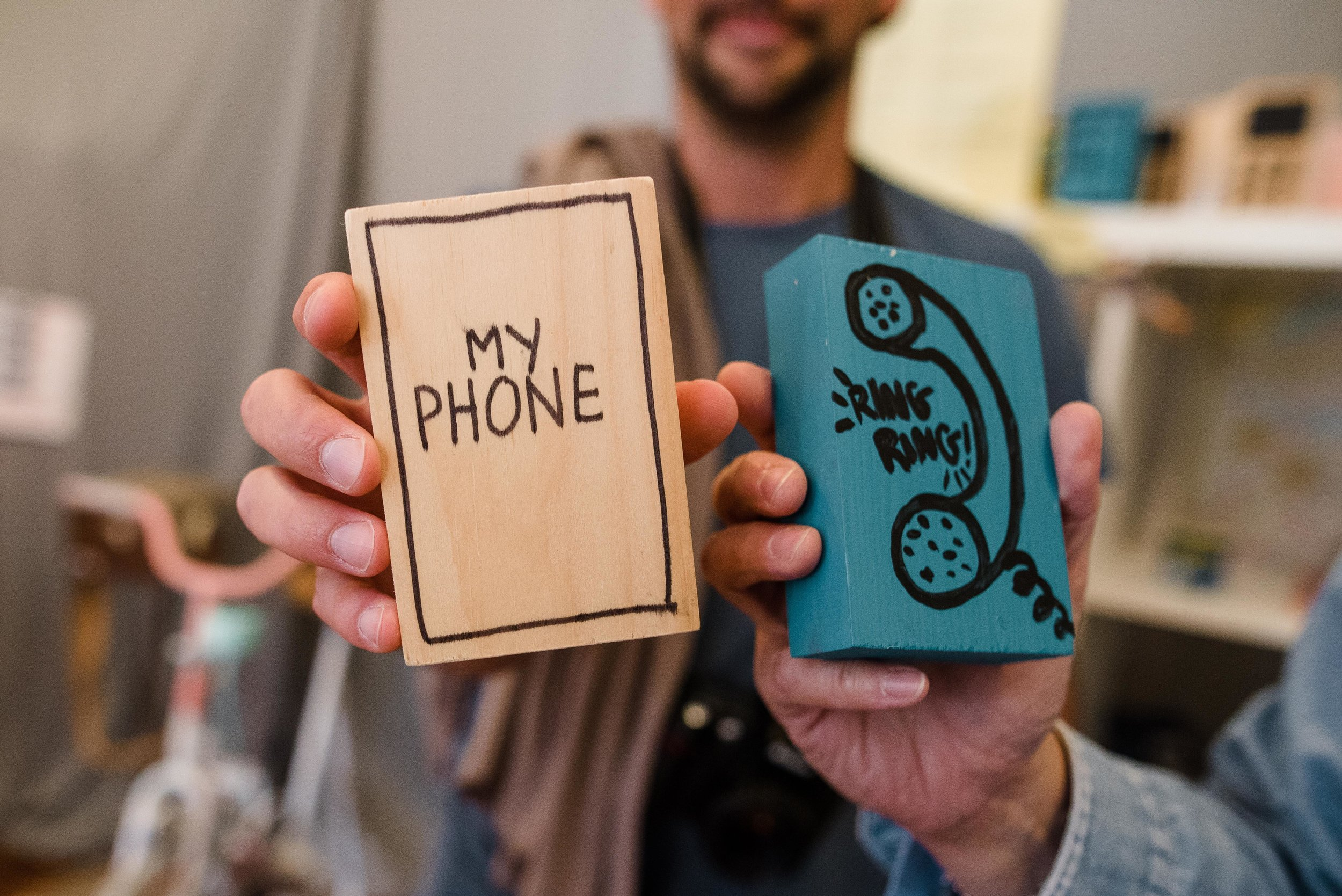 wooden dummy phones
