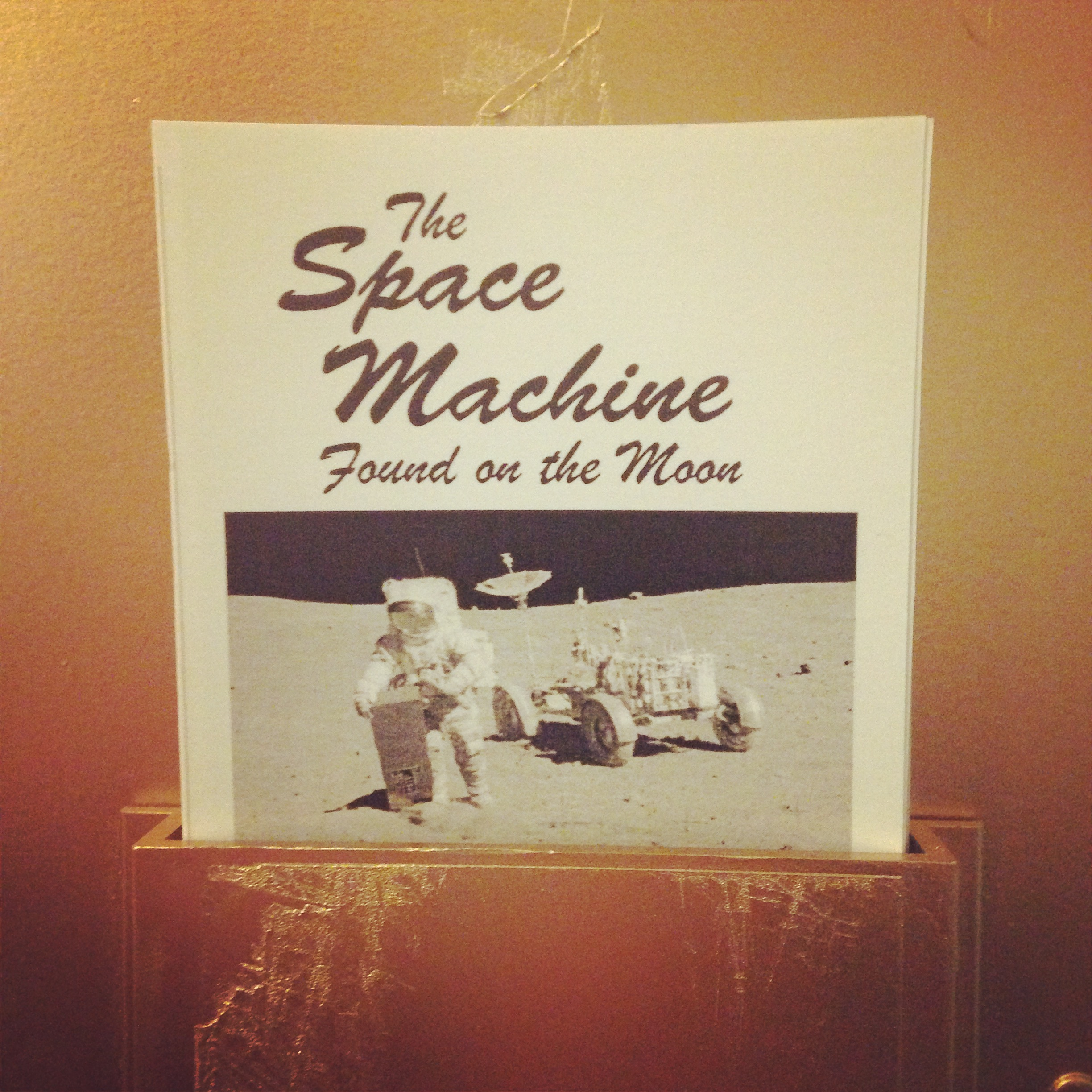 SPACE MACHINE FOUND ON THE MOON