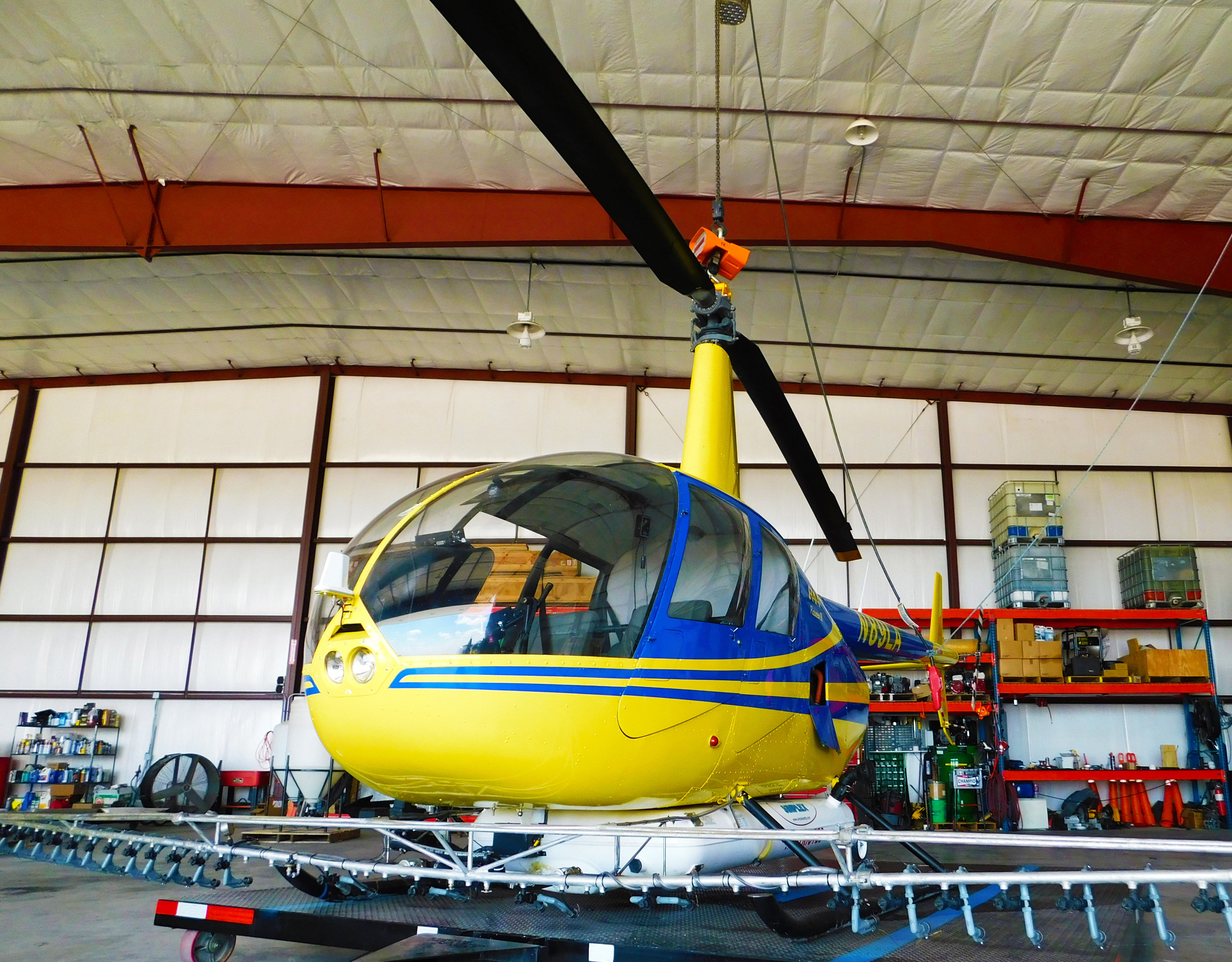 Johnson owns a local helicopter service where he flies on cover crops and pesticides.