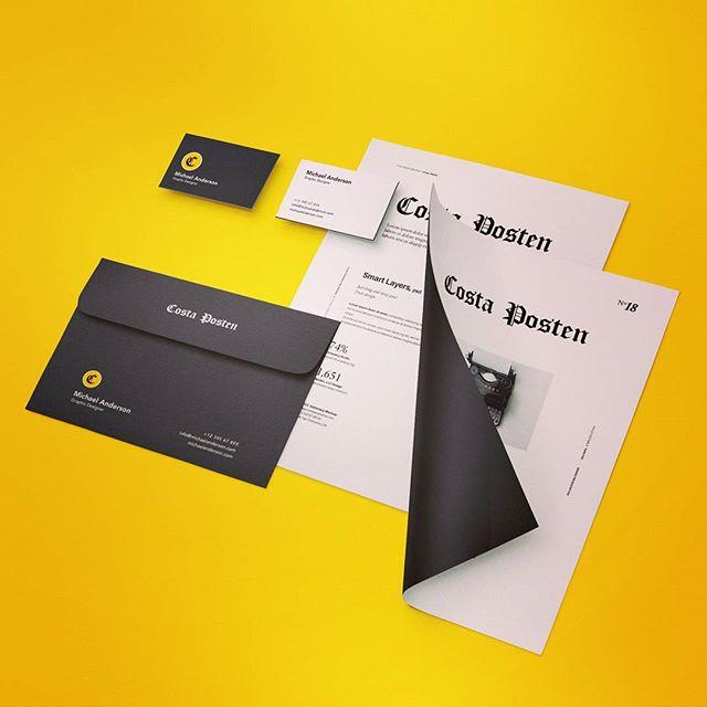 #branding #stationery #logo #costaposten #costadelsol #marbella #malaga #fuengirola #design #diseño #newspaper #diseñografico #yellow #followforfollow #sigueme #art #scandinavian #españa #digital