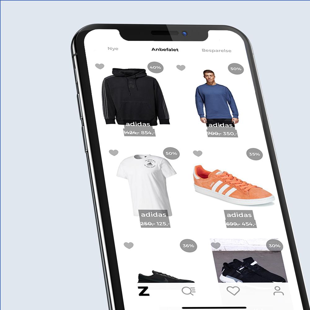 Zale - Danish fashion app redesign