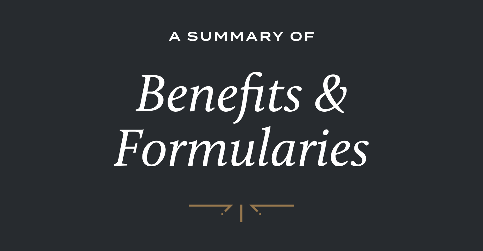 Medicare Plans Summary of Benefits and Formularies