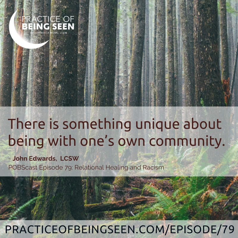"""There is something unique about being with one's own community."" - John Edwards"