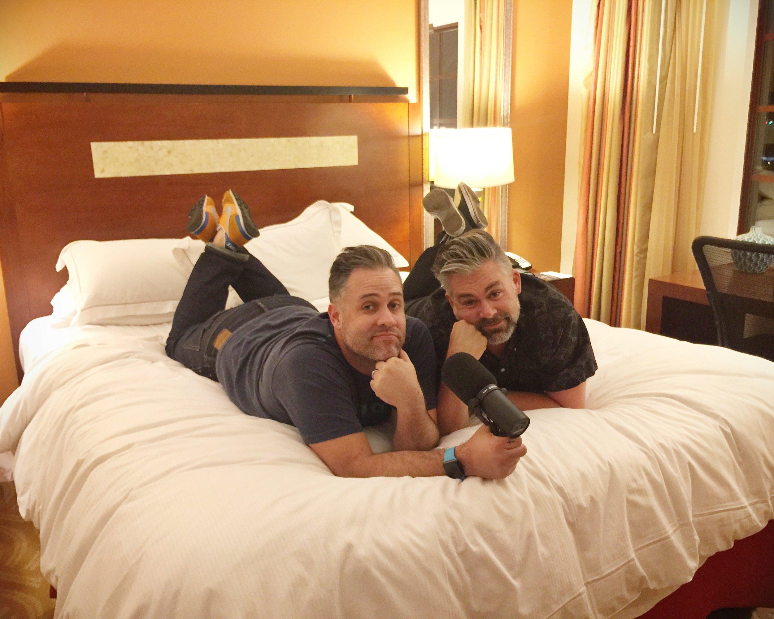 Jeff wants Matt's shoes. Matt wants Jeff's hair. Mutual love... mutual envy.