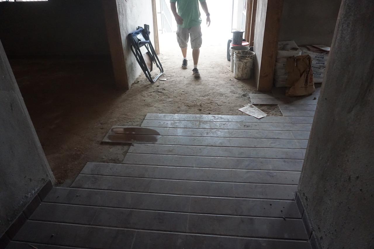Entryway Tile & Paint Supplies