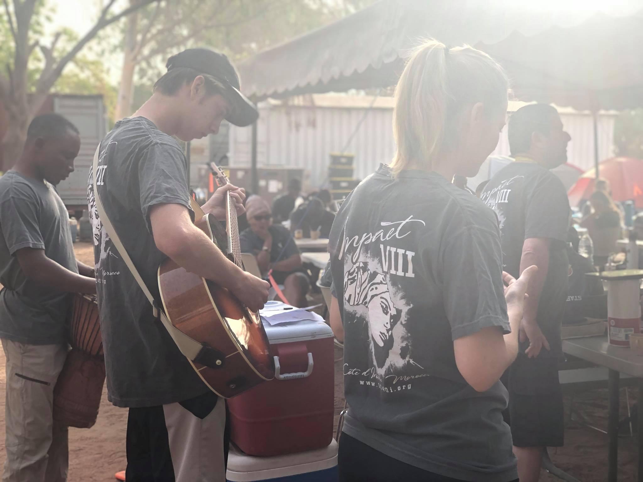 Zion and Rachel Foley leading worship