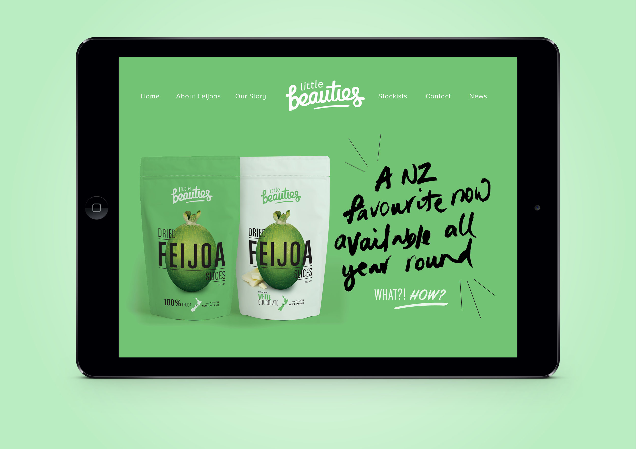 Branding graphic design packaging website Little Beauties