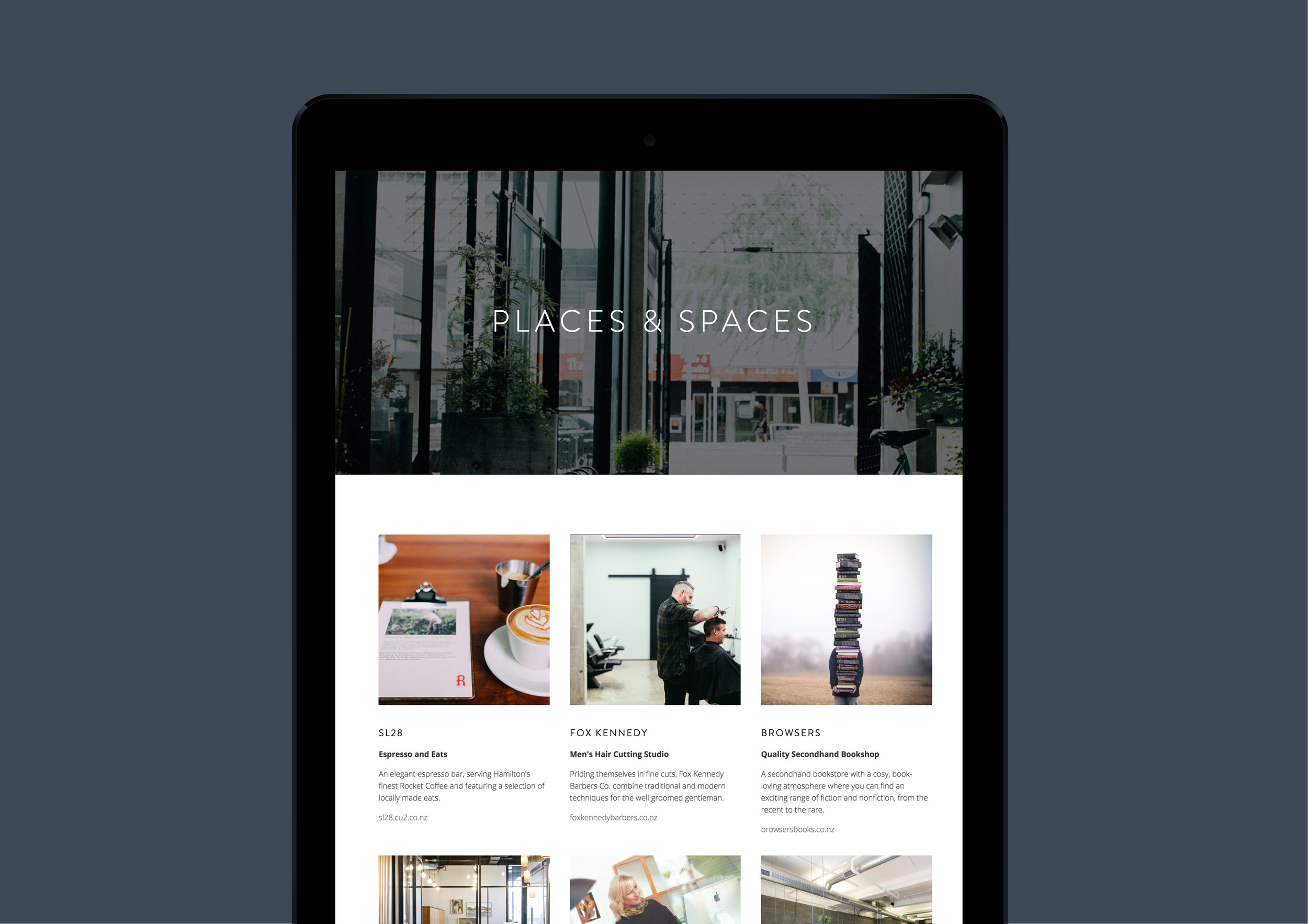Website design The Riverbank Lane - Designwell