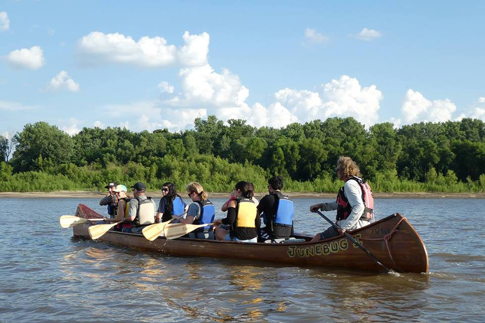 The Lewis and Clark Adventure - Join us on this guided canoe adventure and spend the day paddling on the longest river in North America, The Missouri! This trip is a beautiful 9 mile stretch of river between St. Charles and The Confluence that takes us past multiple wild islands and a Lewis and Clark campsite.