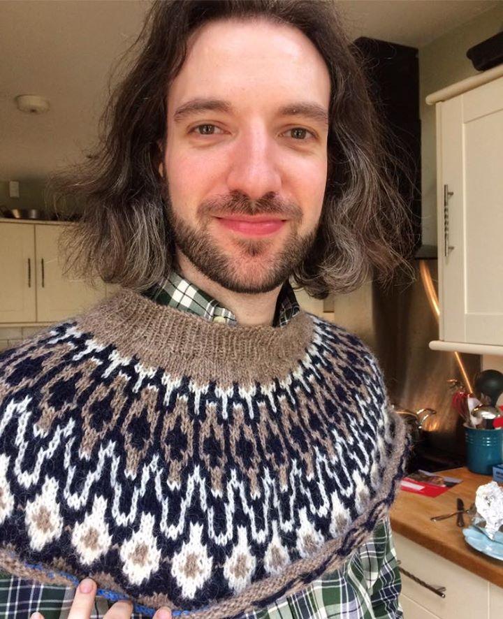 fair isle sweater in Lopi
