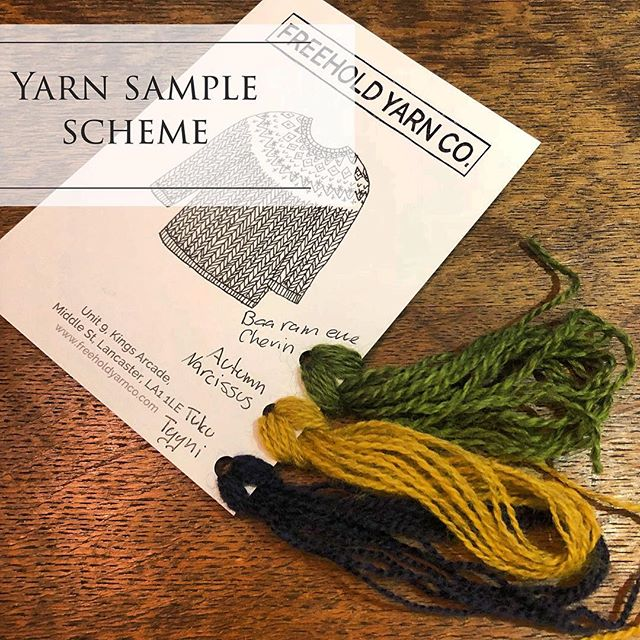 Introducing our new yarn sample scheme! (Link in bio)  I hope this will help to bridge the gap between online and the experience of seeing and feeling yarns in a store.  You can pick up to 5 yarns to sample for 5£ (which is fully redeemable on any future purchase!), if you're already ordering yarn just add what samples you'd like in the notes section.  Samples will be about 1m long so you can see and feel the yarn as you would in a shop 😍  Please note that not all yarns are available yet but I'm adding more and more, to kick it off you can try @tukuwool @garthenor @freeholdyarnco And @baarameweknits