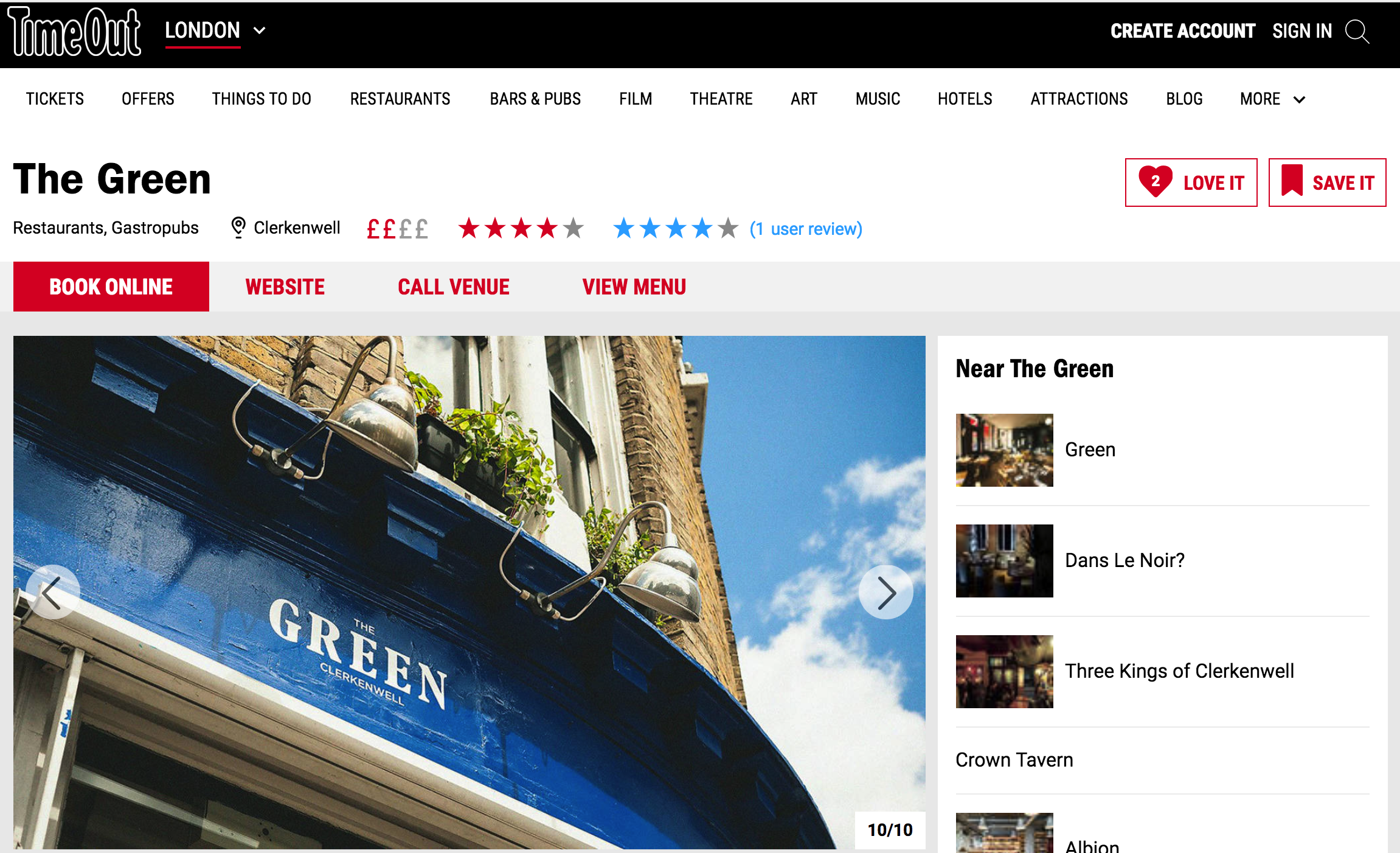 Time Out | The Green Clerkenwell