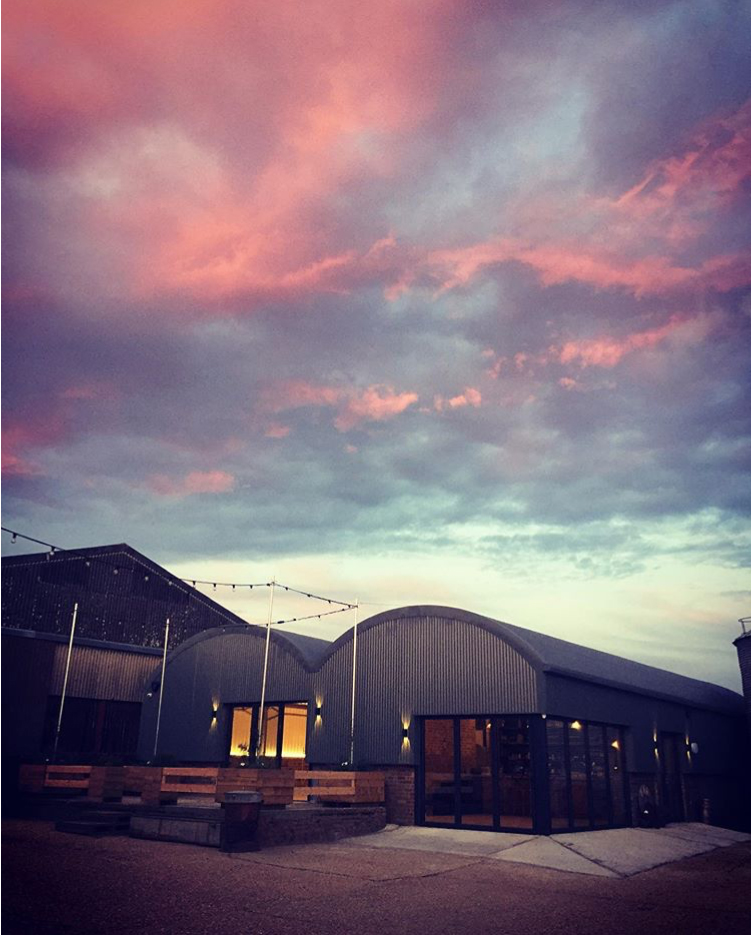 The finished article at sunset. Photo courtesy of  Lodge Farm Barns