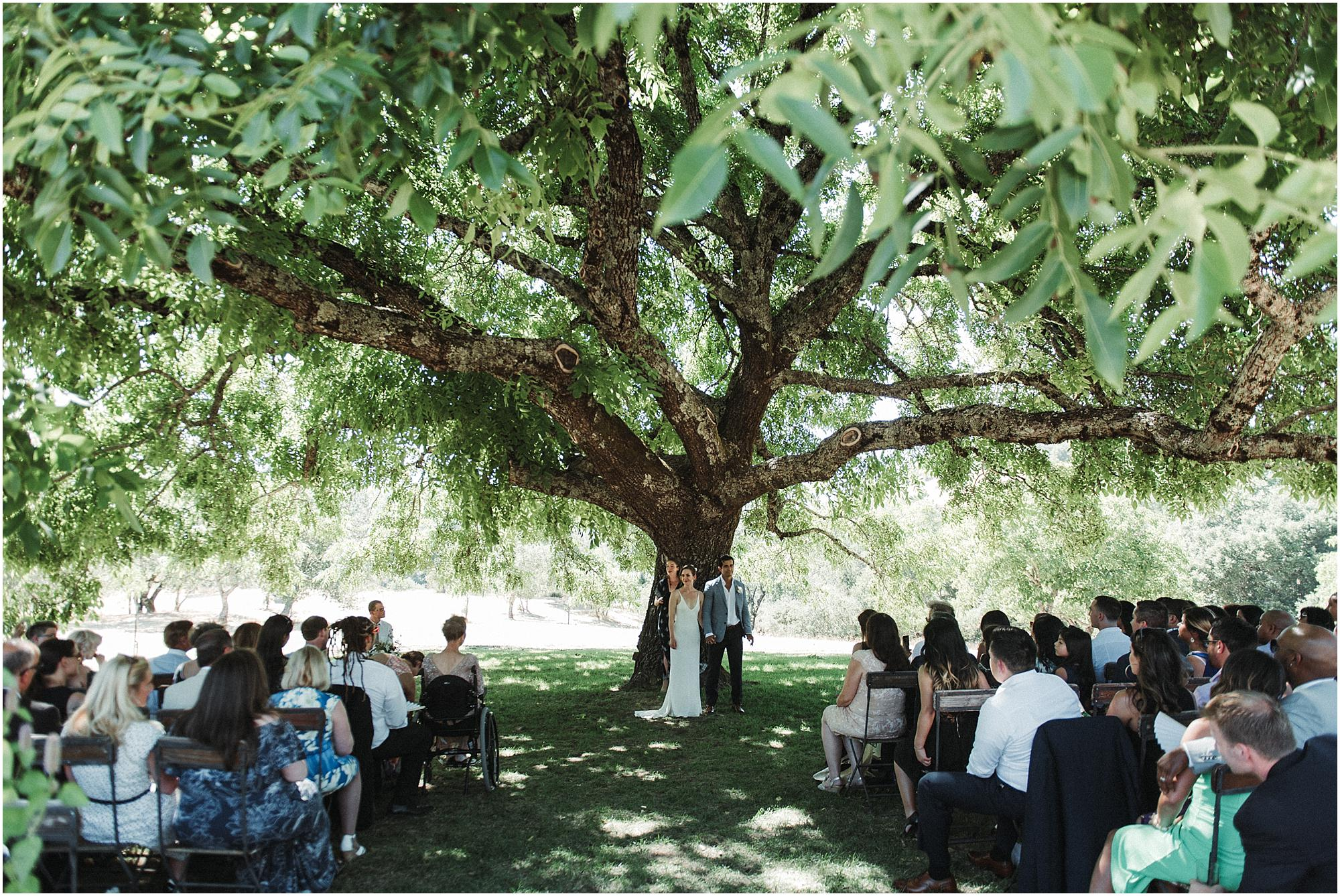 A wedding ceremony at Triple S Ranch