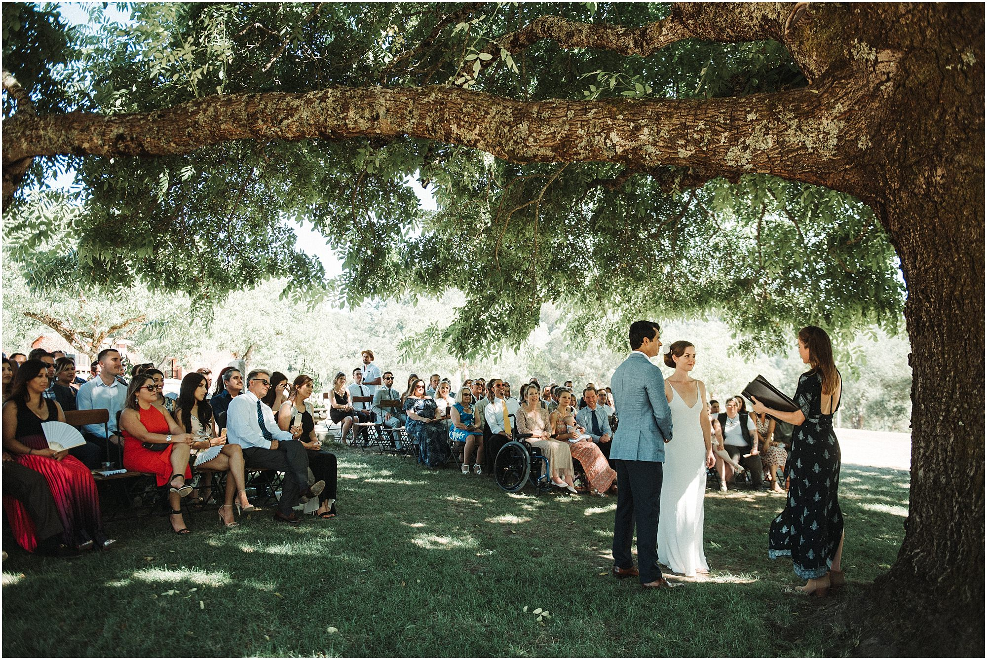 A bride and groom at there Triple S Ranch wedding