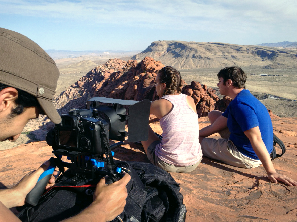 """Brandon on set in Las Vegas shooting independent feature film """"Jerry."""""""