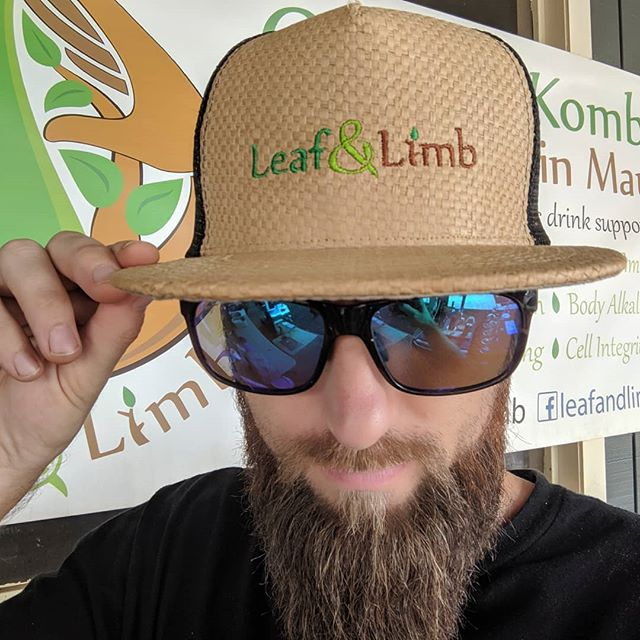 Mahalo @kingscreenprinting for this dope cranium protection . . . #kombucha #drinklocal #organic #stylepoints #screenprinting #embroidery #maui #fashion