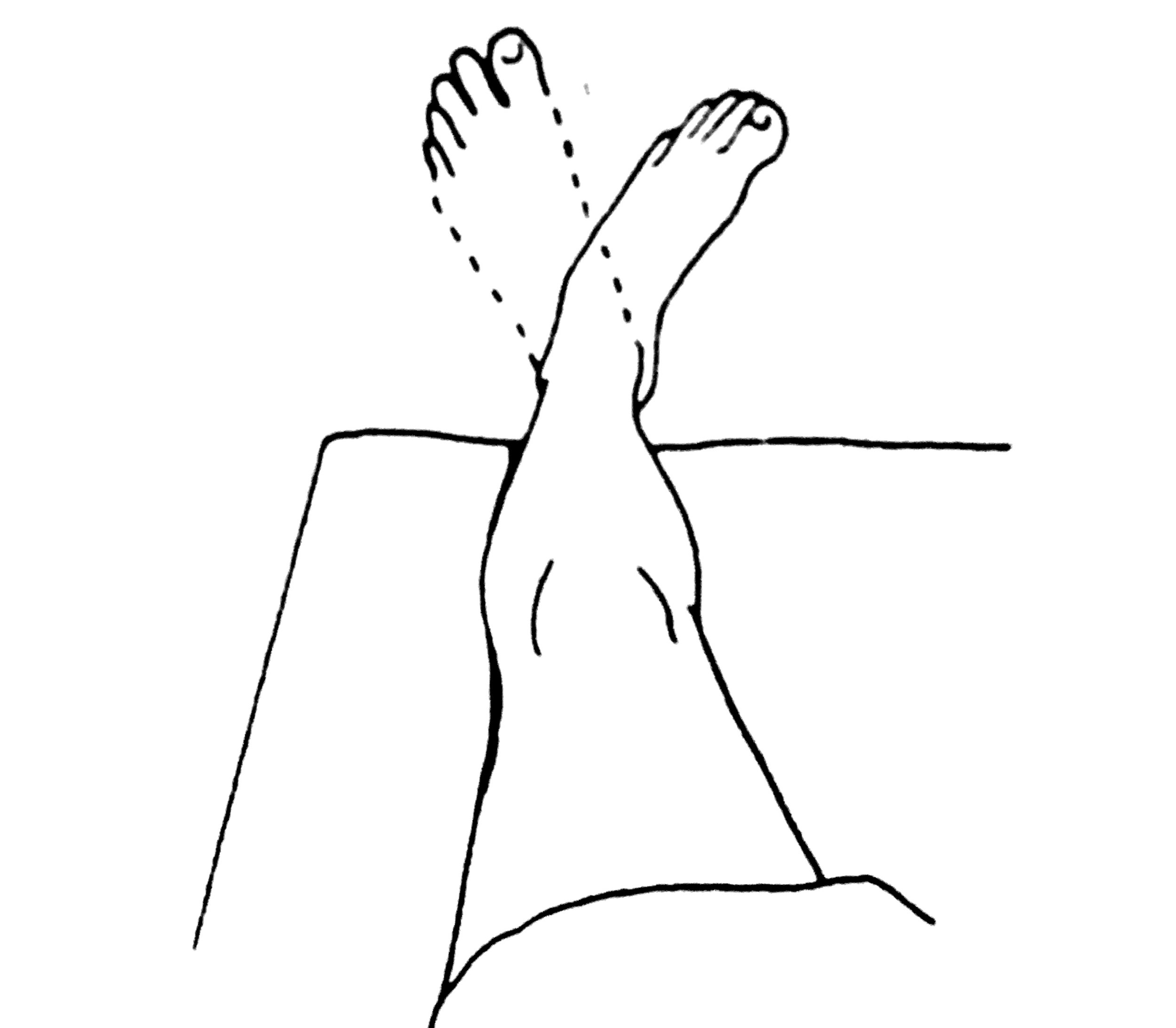With leg relaxed, gently turn ankle/foot in and out. Move through full range of motion. Avoid pain. Repeat several times a few times a day.